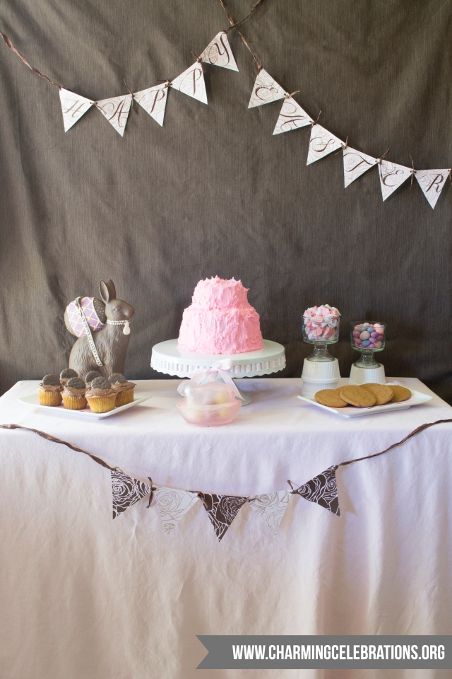 Easter-Dessert-Table-Pink-n-Brown